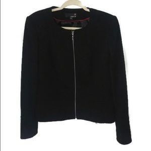 LAURA Jacket Zip Front Black Size 12 EUC